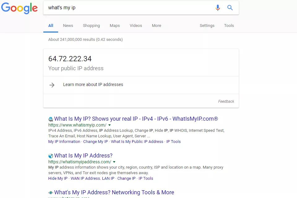how to find your public ip address